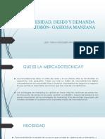 NECESIDAD, DESEO Y DEMANDA YURANI