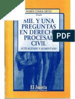 María Cerra Ortiz - Mil y una preguntas en Derecho Procesal Civil
