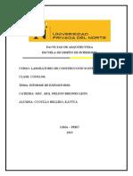 IMFORME DE CONSTRUCCIONES