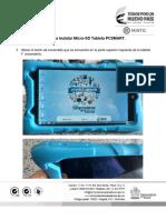 Guia para Instalar Micro-SD Tableta PC SMART