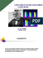 TRASTORNOS DEL EQUILIBRIO ACIDO BASE  DR JOSE ESCALONA  10042015
