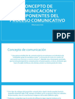 Concepto de comunicación y componentes del proceso comunicativo