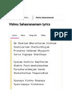 M.S Subbulakshmi Vishnu Sahasranamam Lyrics from Vishnu Sahasranamam _ LyricsMasti.Com
