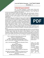 Appunti Storia del diritto romano - Prof Sciortino - A.A. 2017_2018