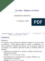 Relaciones de orden. Algebras de Boole
