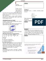 Notes 7.2 Pressure in Liquids