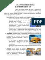 La actividad económica - Resumen 3º ESO