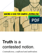 Making a case for campus journalism