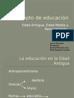 Historia del concepto de educación