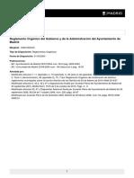 Reglamento Orgánico Del Gob Madrid