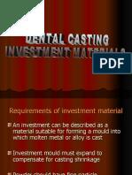 Dental Casting Investment Materials