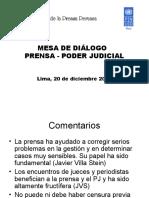 Relatoria Mesa de Dialogo Prensa Poder Judicial