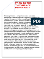 INTRODUCTION TO THE THEORIES OF      DEMOCRACY.docx