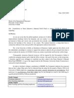 DU Registrar Letter