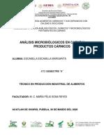 ANÁLISIS MICROBIÓLOGICOS EN CARNE Y PRODUCTOS CÁRNICOS-Trabajo de investigación