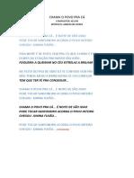CHAMA O POVO PRA CA - fusão.doc