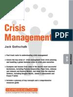 Jack Gottschalk - Crisis Management (Express Exec) (2002, Capstone)