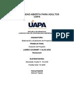 TRABAJO  FINAL ELABORACION DE PROYECTOS