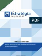 Comentários Simulado - Português