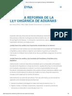 Sobre la reforma de la Ley Orgánica de Aduanas