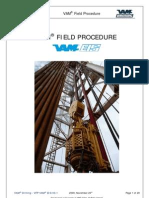 Vam Field Procedure - Vfp Vam Eis v3 1 | Pipe (Fluid Conveyance