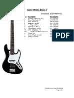 Affinity J Bass V-Service