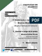 Facultad de Silencio (Tercera Edición). Marta López Vilar. Manuel Martí. Javier Helgueta Manso (Organizador)