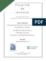 Facultad de Silencio (Cuarta Edición). Javier Helgueta Manso (Organizador)