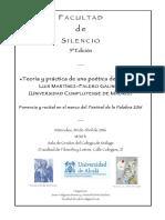 Facultad de Silencio (Quinta Edición). Javier Helgueta Manso y Manuel Martí Sánchez (Organizadores)