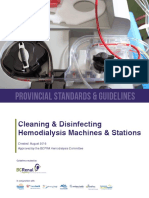 Cleaning and Disinfecting Hemodialysis Machines and Stations