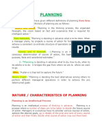 planning definition and function for management
