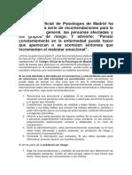 Guía respuesta psicológica al corona virus -Col. Psicólogos Madrid