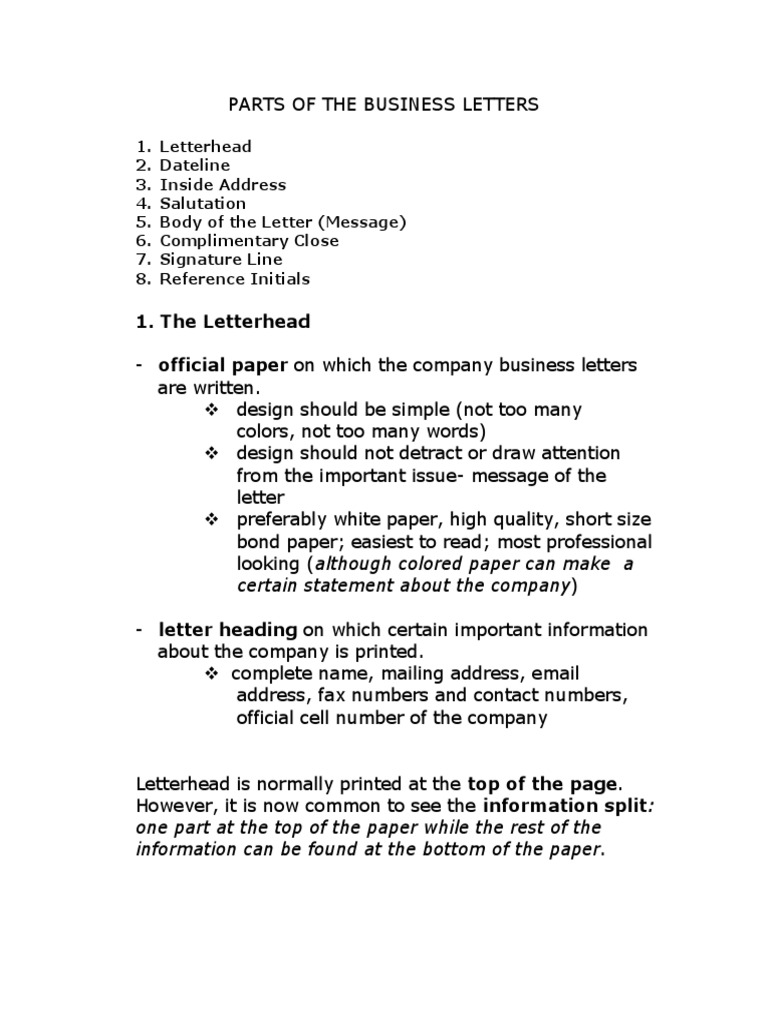 7 Parts Of A Business Letter from imgv2-1-f.scribdassets.com