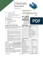 Kit 01 - Relay Board 12HD03 Rev 1