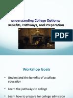 understanding college options  english