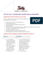 Top 30 Tally Interview Questions