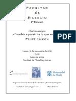 Facultad de Silencio (8ª Edición). Felipe Cussen (Poeta). F. Gómez Redondo y J. Helgueta Manso (Organizadores)