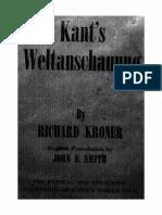 Richard  Kroner - Kant's Weltanschauung.pdf