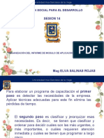 SESIÓN 14ORGANIZACIÓN DEL INFORME MODELO DE APLICACIÓN DE LA CAPACITACIÓN