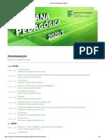 Semana Pedagógica 2020_1 - PROGRAMAÇÃO