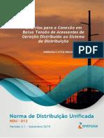 NDU_013 - Critérios para a Conexão de Acessantes de Geração Distribuída_ V4.1