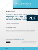 10. Groppo-Políticas de la memoria y políticas del olvido en Europa central y oriental después del fin de los sistemas políticos comunistas