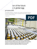 A projection of the future dynamics in global egg production