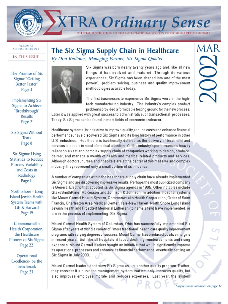 Six Sigma In Healthcare Value Chain Six Sigma Business Process