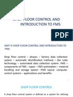 Shop Floor Control & FMS