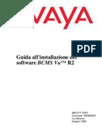 User Guide AVAYA BCMS Vu™ R2 V2 - ITALIANO