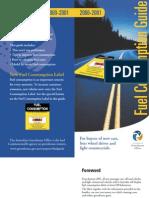Fuel Consumption Guide