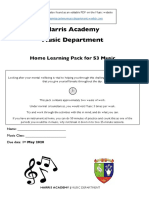 s3 music home learning editable pdf