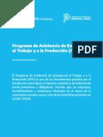 Programa asistencia de emergencia al Trabajo y la Producción
