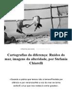 Cartografias da diferença, por Stefania Chiarelli – Philos